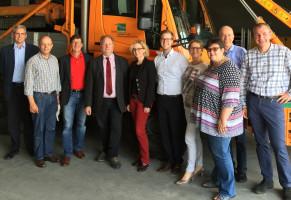 Besuch bei den Stadtwerken Weilheim mit örtlichen Mandatsträgern und Natascha Kohnen, Generalsekretärin der BayernSPD (Juni 2016)