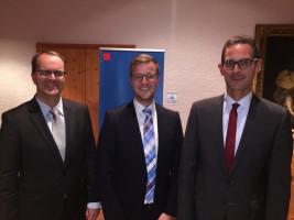 Redner auf dem Ehrenamtsempfang der SPD Landtagsfraktion: Markus Rinderspacher, Dominik Hey, Andreas Lotte