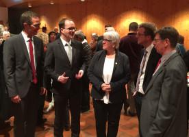 Ehrenamtsempfang der SPD Landtagsfraktion: Andreas Lotte, Markus Rinderspacher, Gabi Königbauer, Dominik Hey, Horst Martin