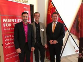 Neujahrsempfang 2017 der SPD Weilheim; mit Enrico Corongiu und Florian Post