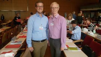 Zusammen mit Dominic Scales (UB Landsberg/Lech) auf dem Landesparteitag am 16.07.2016 in Amberg