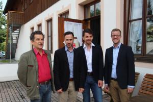 UB Konferenz 2016; v.li.: Klaus Barthel, Enrico Corongiu, Felix Burger, Dominik Hey